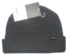 MENS RVCA CHARCOAL BEANIE HAT CAP ONE SIZE