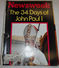 Newsweek Magazine John Paul I 34 Days October 9, 1978 101016R2