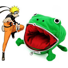 Uzumaki Chic Naruto Frog Shape Wallet Green Cosplay Coin Purse Lovely Plush Gift