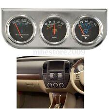 Neuf Jauge Huile Panel Indicateur Ampèremètre Thermomètre D'huile Et D'eau Auto