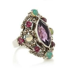 Nicky Butler Amethyst, Rhodolite, & Ethiopian Opal Sterling Silver Ring ~ Size 6