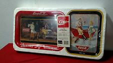 NEW 1988 COCA COLA 4  metal TRAY SET BY OHIO ART vintage Coke Collectible