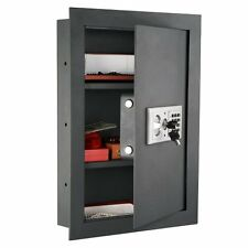 ELECTRONIC HIDDEN FIRE PROOF WALL SAFE LOCK GUN CASH JEWELRY OFFICE HOME STEEL