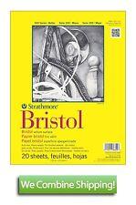 "Strathmore 300 Bristol Vellum Pad 14""x17"" 20 Sheet 100lbs 342-114"
