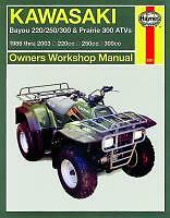 Haynes Workshop Manual KAWASAKI ATV KLF KVF Bayou KLF220 250 300  Prairie KVF300
