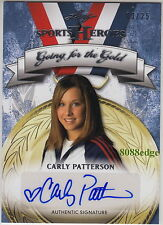 2013 LEAF GOING FOR GOLD AUTO: CARLY PATTERSON #3/25 AUTOGRAPH ALL-AROUND CHAMP
