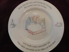 Wedgewood Child's Plate Beatrix Potter Peter Rabbit England 7 Inch Plate