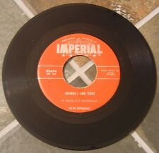 "45 RPM Rock By Fats Domino, ""When I See You"" on Imperial"
