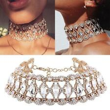 Luxury Full Diamond Crystal Rhinestone Pendant Choker Collar Necklace Jewelry w1