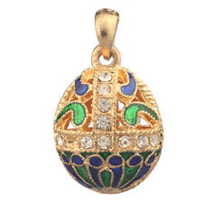 Faberge Egg Pendant / Charm with crystals 2.5 cm #1601-01-14