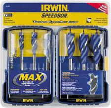 NEW Irwin 3041006 Speedbor Max Drill Bit Kit 6 Piece