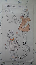 Vintage NEW YORK PATTERN CO Children's Panties,Slip,Dress Sz 1/2, #1914