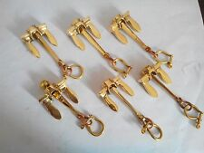 Brass Anchor Keychains Nautical keychains in 6pcs handcuff keychain Reproduction