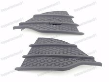 1Pair Front Bumper Grill Grilles Covers Satin Black for Ford Escape 2013-2016