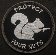 PROTECT YOUR NUTS 2A GUN RIGHTS 3% MORALE SWAT OP VELCRO® BRAND FASTENER PATCH
