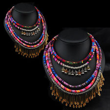 Ethnic Necklace Vintage Style Weave Rope Bohemian Style New Multilayer Fashion