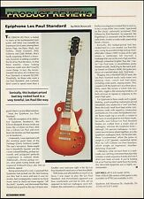 The Epiphone Les Paul Standard electric guitar 8 x 11 sound check review