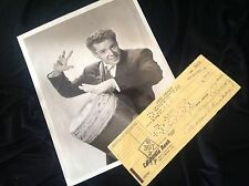 Authentic Autograph DESI ARNAZ Signed Bank Check I LOVE LUCY Lucille Ball