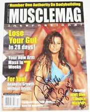 WWE CANDICE MICHELLE SIGNED MUSCLE MAGAZINE WITH PROOF