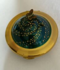 Rare book piece Kigu flying saucer vintage powder compact with working music