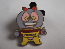 Disney's Figment the Dragon Epcot Mascot Hidden Mickey  Pin  Badge 3 OF 5