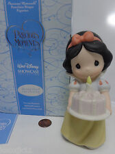 "NEW Disney SNOW WHITE 5"" FIGURINE Precious Moments Birthday Cake & Candle Topper"