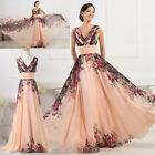 Sexy Women Summer Long Floral Dresses Evening Party Prom Long Gown PROM Sundress