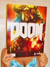 RARE DOOM 2016 GAME COLLECTORS PROMO DISPLAY POSTER PS4 XBOX PC 2 3 4 BETHESDA