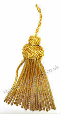 Gold Mylar Bullion Tassel for Cap, Costume, Dress or Fancy Use HE-TS102