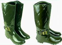 Womens Wellington Boots Ladies Kids Quilted Imprint Rubber Wellies UK3-UK8 NEW