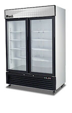 Migali C-49FM Two Glass Door Merchandiser Freezer FREE LIFT GATE DELIVERY!!