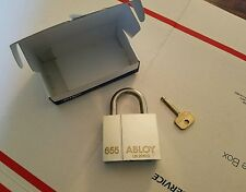 NIB, ABLOY PL655 Maximum Security, General Field Service Military Padlock, 1 Key