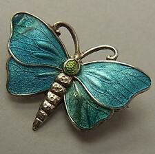 ANTIQUE CHARLES HORNER SILVER & ENAMEL BUTTERFLY BROOCH