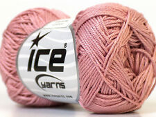 Lot of 6 Skeins Ice Yarns CAMILLA COTTON (100% Mercerized Cotton) Yarn Rose Pink