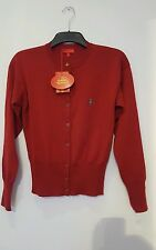 vivienne westwood wool red cardigan size 14 size 10 long sleeved buttons