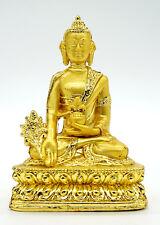 Buddhism Golden Statue Tibetan Buddhist Medicine Bodhisattva Buddhist Collection