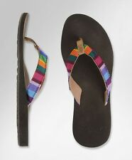 REEF GUATEMALAN LOVE MULTI WOMENS BROWN SANDALS FLIP-FLOPS NEW SIZE 7