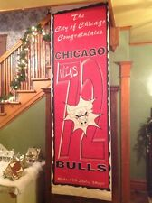 Chicago Bulls 72 10 basketball season street banner Michael Jordan 1996
