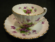 Vintage Radfords Bone China Violets Tea Cup & Saucer Excellent Condition