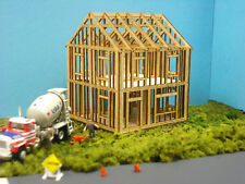 HO SCALE  ** Laser Cut **  House Under Construction Kit