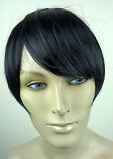 jet black clip in on fake fringe bangs hair extension hair piece fancy dress