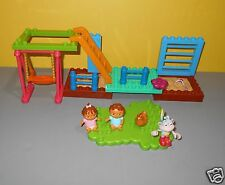 Mega Bloks Dora The Explorer Playground Park Parts w/ Twins & Boots