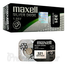 2 x Maxell 321 Silver Oxide batteries 1.55V SR616SW SR616 Watches 0% Mercury