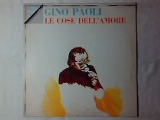 GINO PAOLI Le cose dell'amore lp CHARLES AZNAVOUR JACQUES BREL