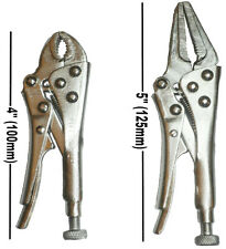 2PC MINI ADJUSTABLE LOCKING LONG NOSE MOLE VICE GRIP PLIERS