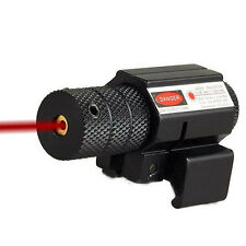 Tactical Laser Sight 20mm Red Dot Picatinny Weaver Rail Mount Pistol Gun Airsoft