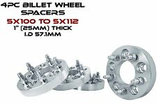 "5x100 MM To 5x112 MM 1"" Thick Conversion Wheel Spacers Toyota & More"