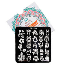 BORN PRETTY 6*6cm Square Nail Art Stamp Plate Owl Design Image Template BP-X14