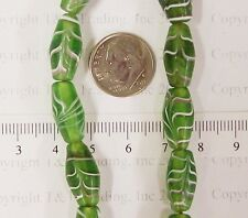 Antique Green Feather  Trade Beads   23 Pc         T4340