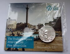 Royal Mint New Trafalgar Square 2016 UK £100 Fine Silver Coin (Reduced To £120)